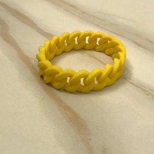 Jewelry - Yellow rubber chain bracelet